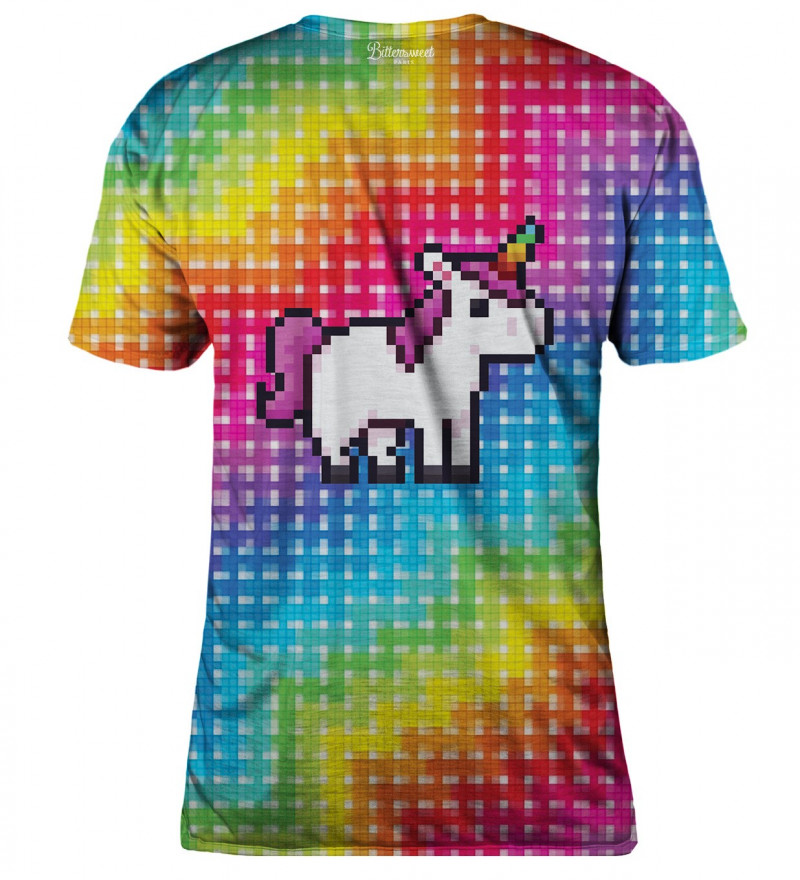 Pixel Unicorn womens t-shirt