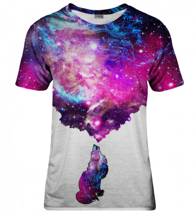 Galactic Wolf womens t-shirt