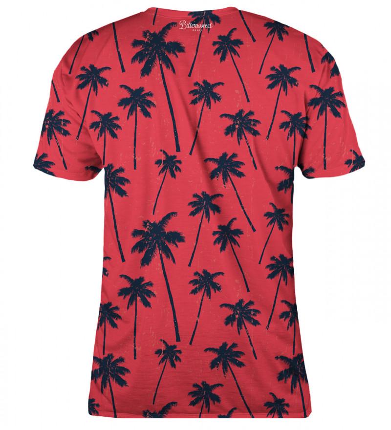 T-shirt damski Red Palms
