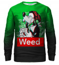 Weed Buddy bluse med tryk