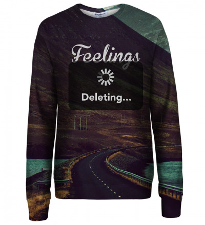Feelings Deleting womens sweatshirt