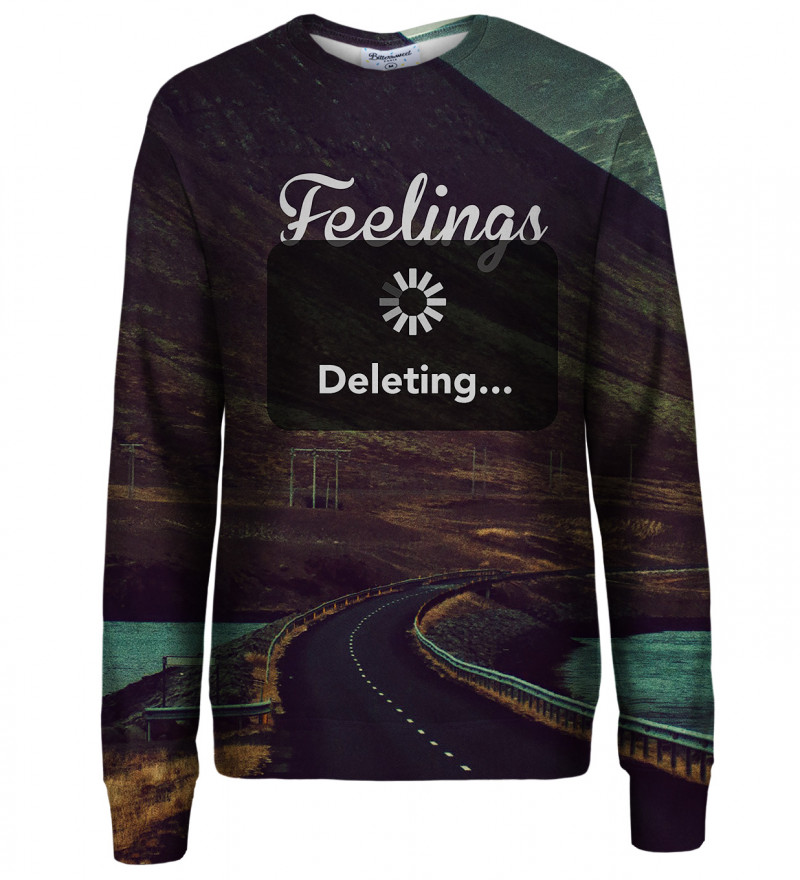 Feelings Deleting womens sweatshirt