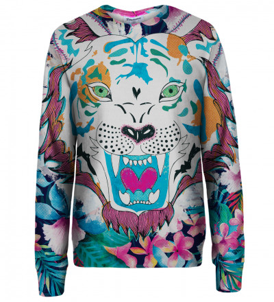 Flower Tiger womens sweatshirt