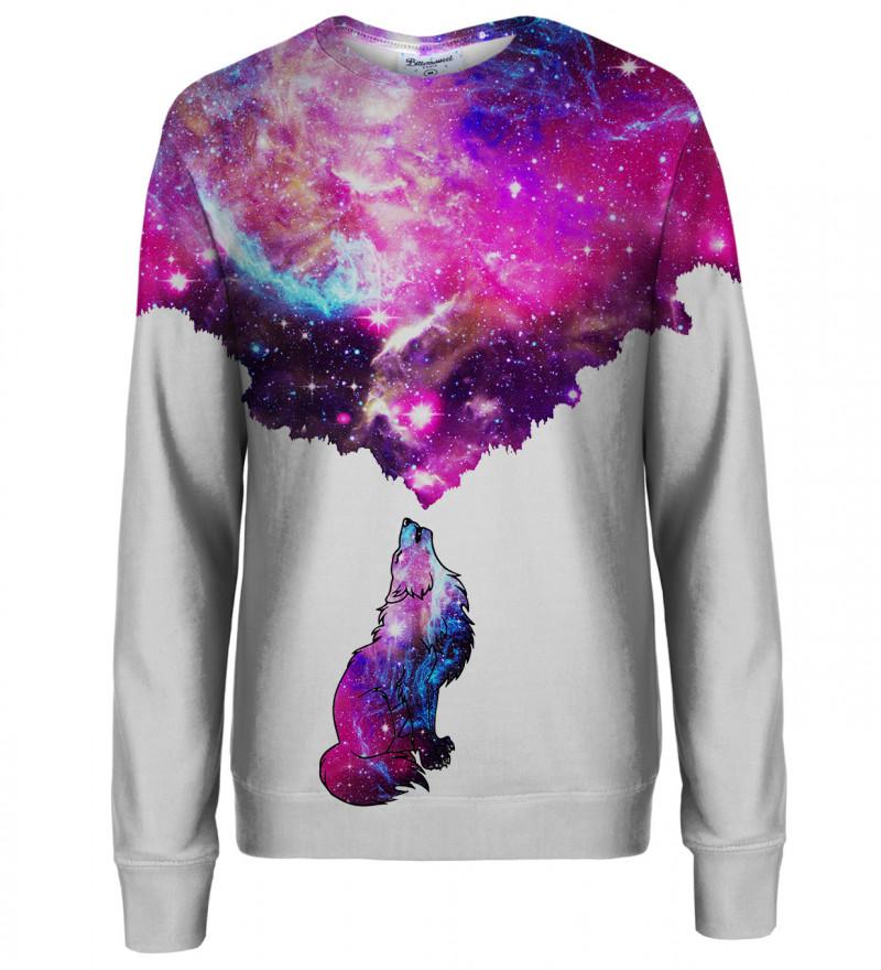 Galactic Wolf womens sweatshirt