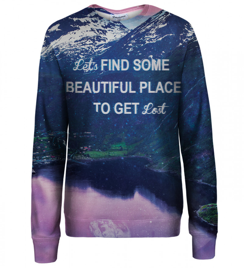 Get Lost womens sweatshirt