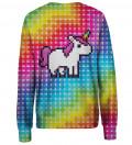 Pixel Unicorn womens sweatshirt