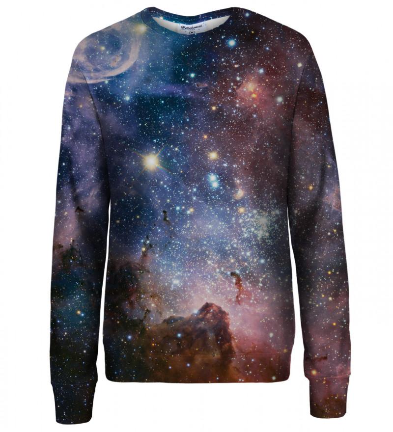 Purple Galaxy womens sweatshirt