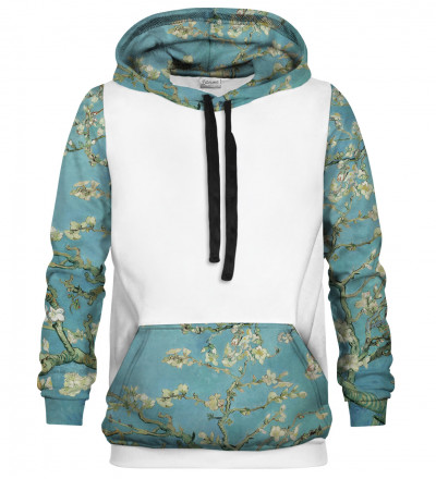 Almond Blossom men's cotton hoodie