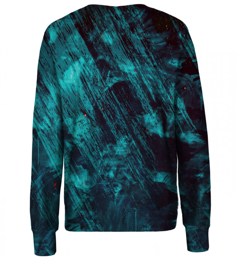 Blue Scratch womens sweatshirt