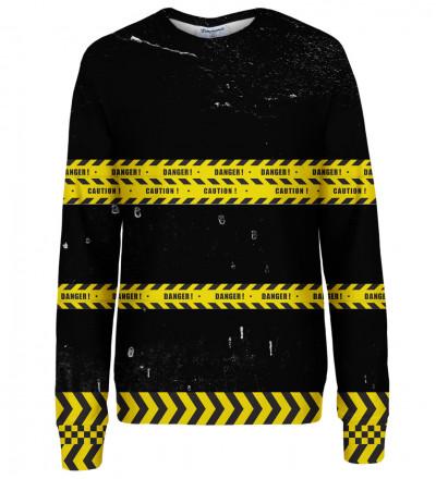 Danger womens sweatshirt