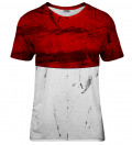 Red and White womens t-shirt