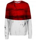 Red and White womens sweatshirt