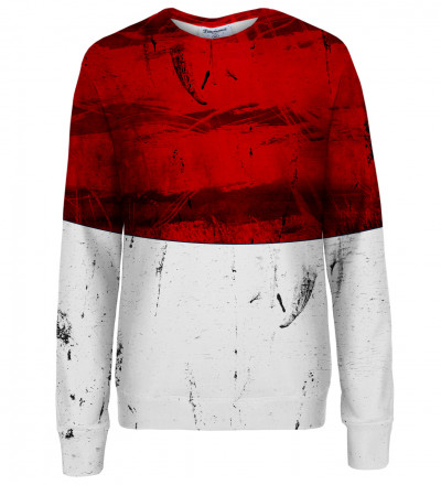 Red and White womens sweatshirt