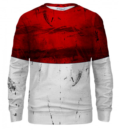 Red and White sweatshirt