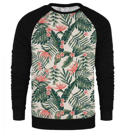 Jungle Flowers raglan sweatshirt