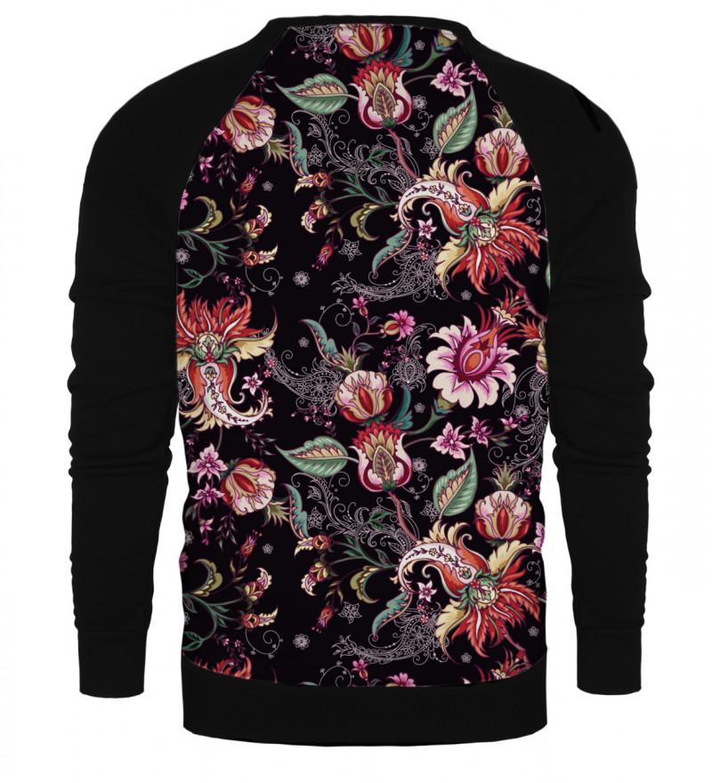 Paisley Print raglan sweatshirt