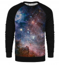 Purple Galaxy raglan sweatshirt