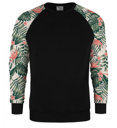 Jungle Flowers raglan sweater