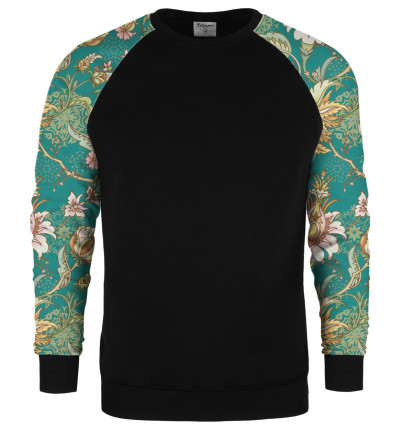 Paisley raglan sweater