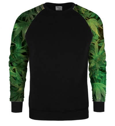 Weed raglan sweater