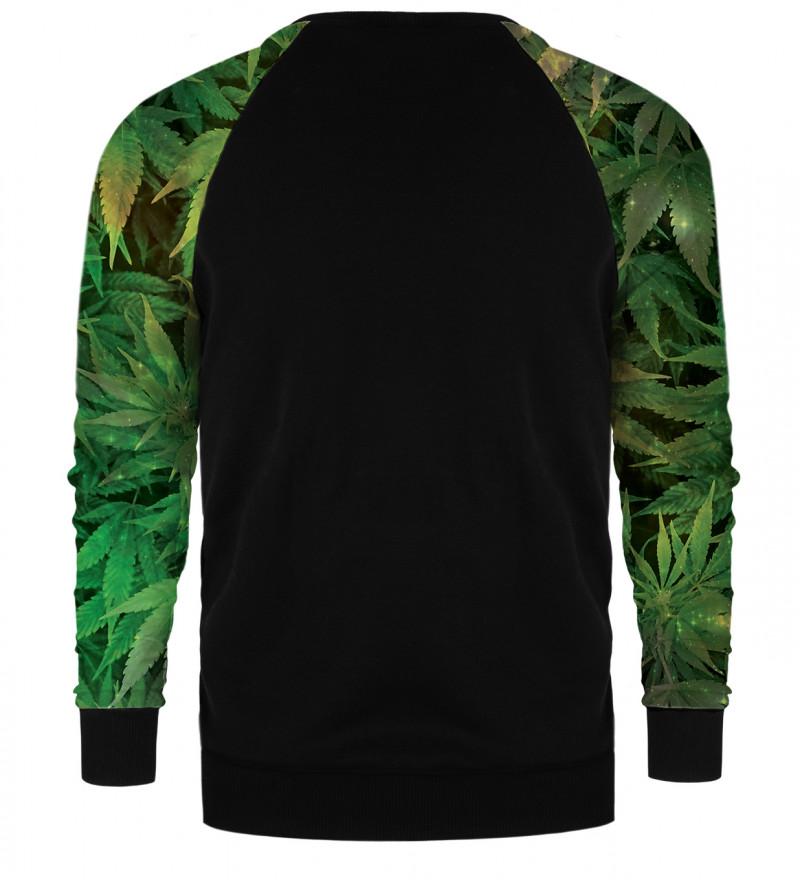 Weed raglan sweater