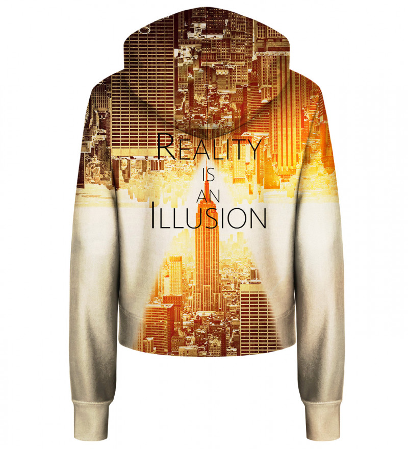 Reality cropped hoodie