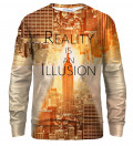 Reality bluse med tryk