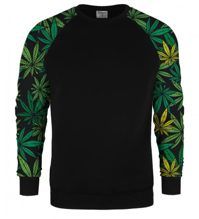 Typical Leaves raglan sweater