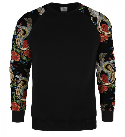 Snake raglan sweater