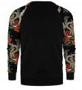 Snake raglan sweater