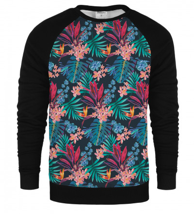 Tropical Leaves raglan sweatshirt