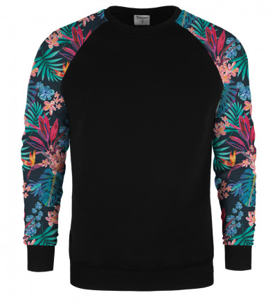 Tropical Leaves raglan sweater