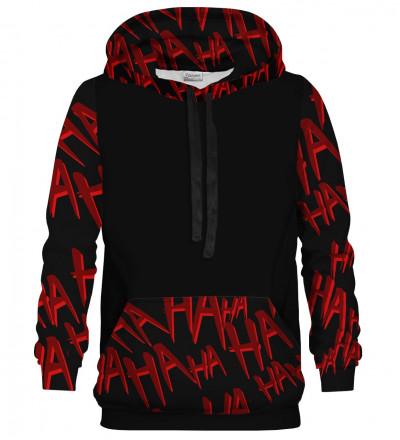 Hahaha cotton hoodie