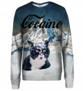 Cocaine Cat womens sweatshirt