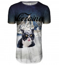Cocaine Cat forlænget t-shirt