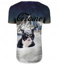 Przedłużany t-shirt Cocaine Cat