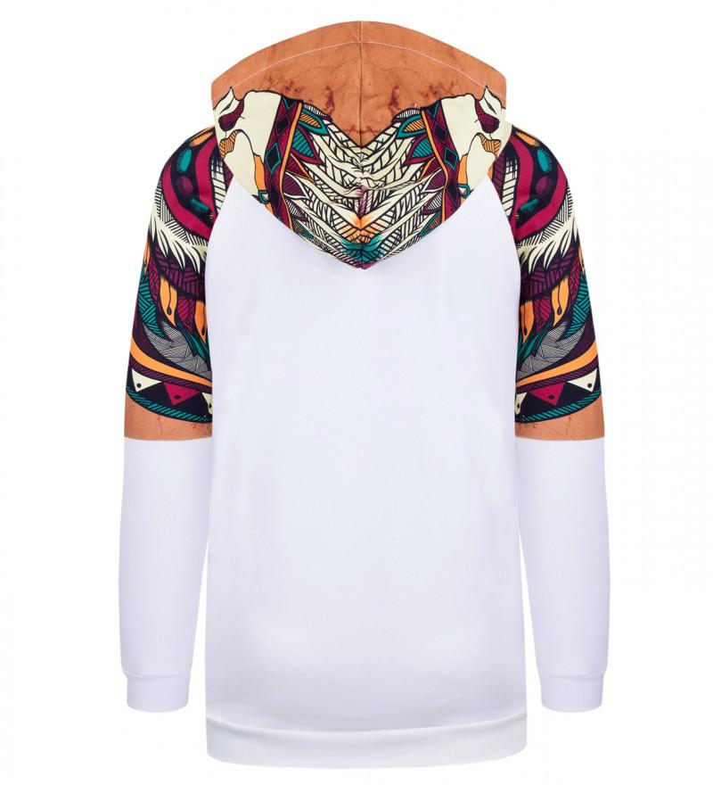 Skull White Raglan hoodie