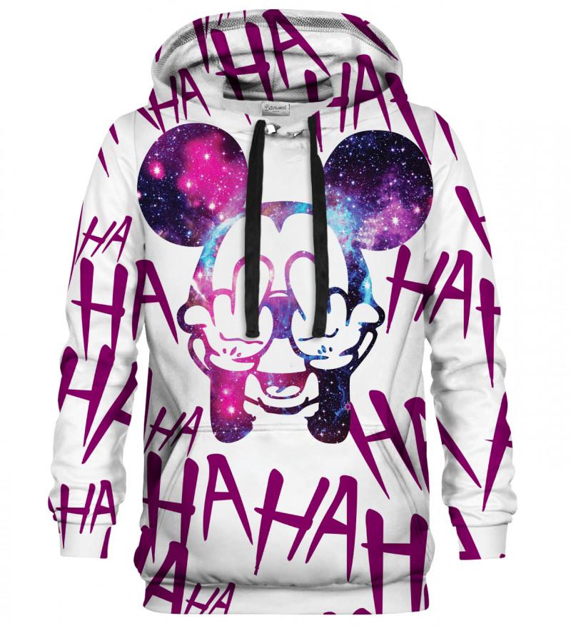 Rebel Hahaha white hoodie