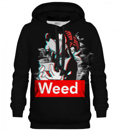 Bluza z kapturem Weed Buddy black