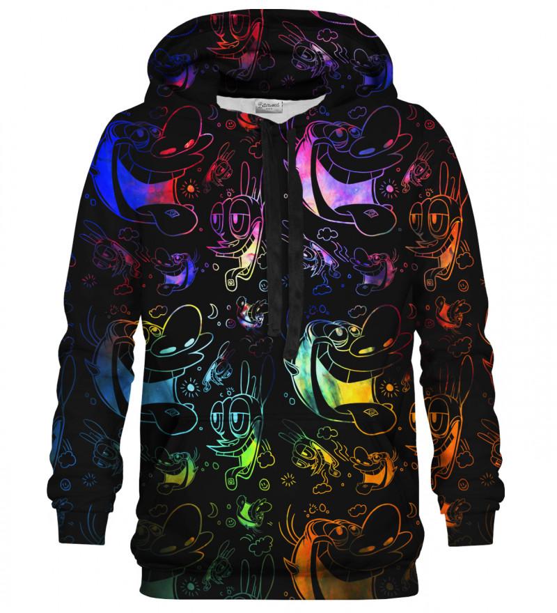 Bluza z kapturem Happy Joy black hoodie