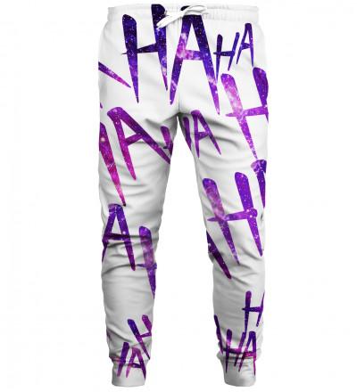 Just Hahaha Violet sweatpants