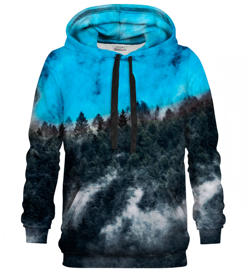 Printed Hoodie - Mighty Forest Blue
