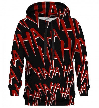 Just Hahaha Red White hoodie