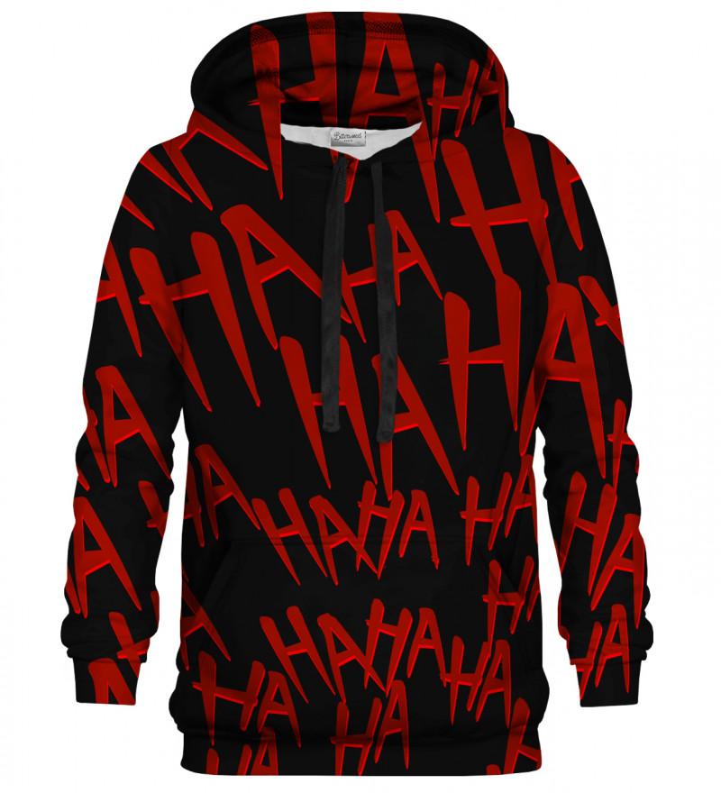 Bluza z kapturem Just Hahah Red Black