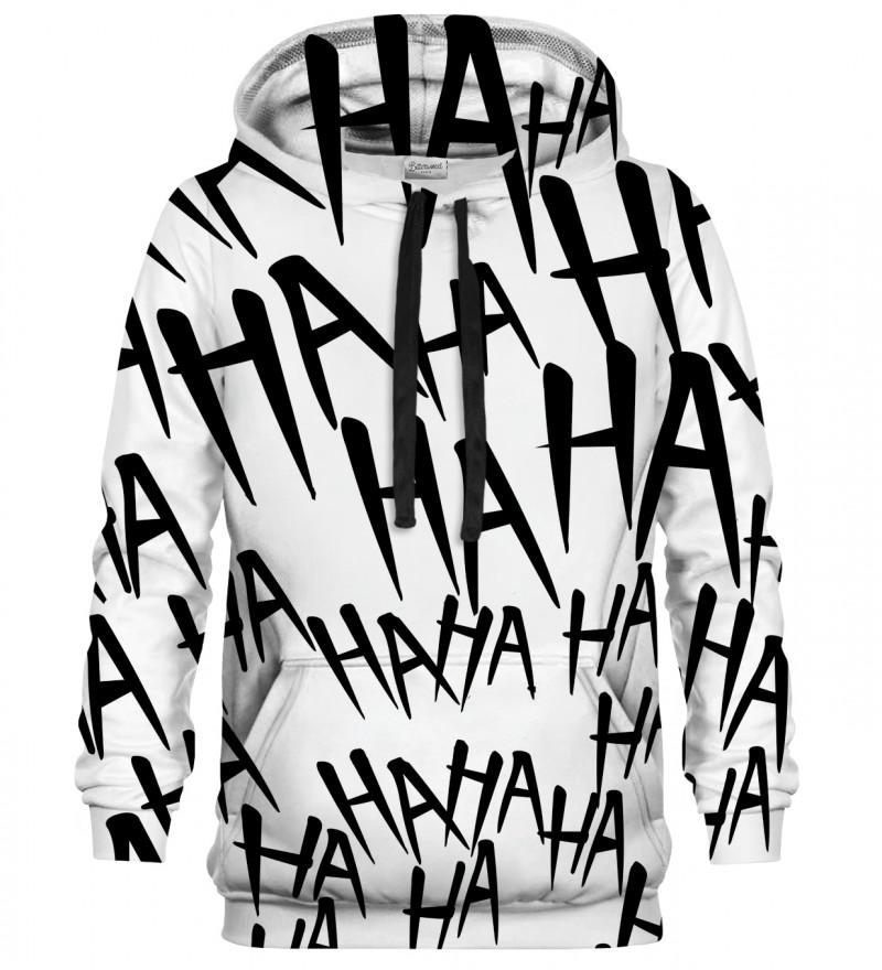 Just Hahaha BW hoodie