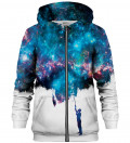 Zip Up Printed Hoodie - Another Painting