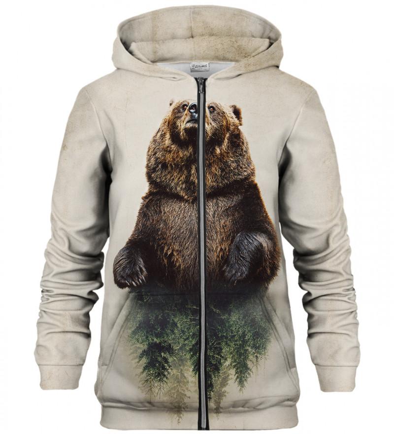 Bear zip up hoodie