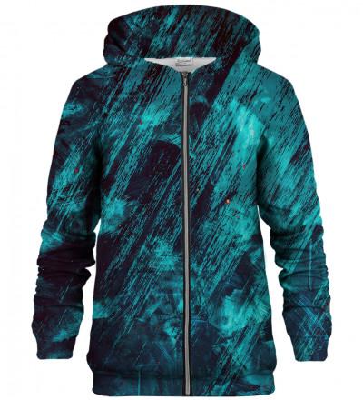 Blue Scratch zip up hoodie
