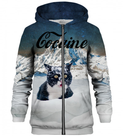 Bluza z zamkiem Cocaine Cat