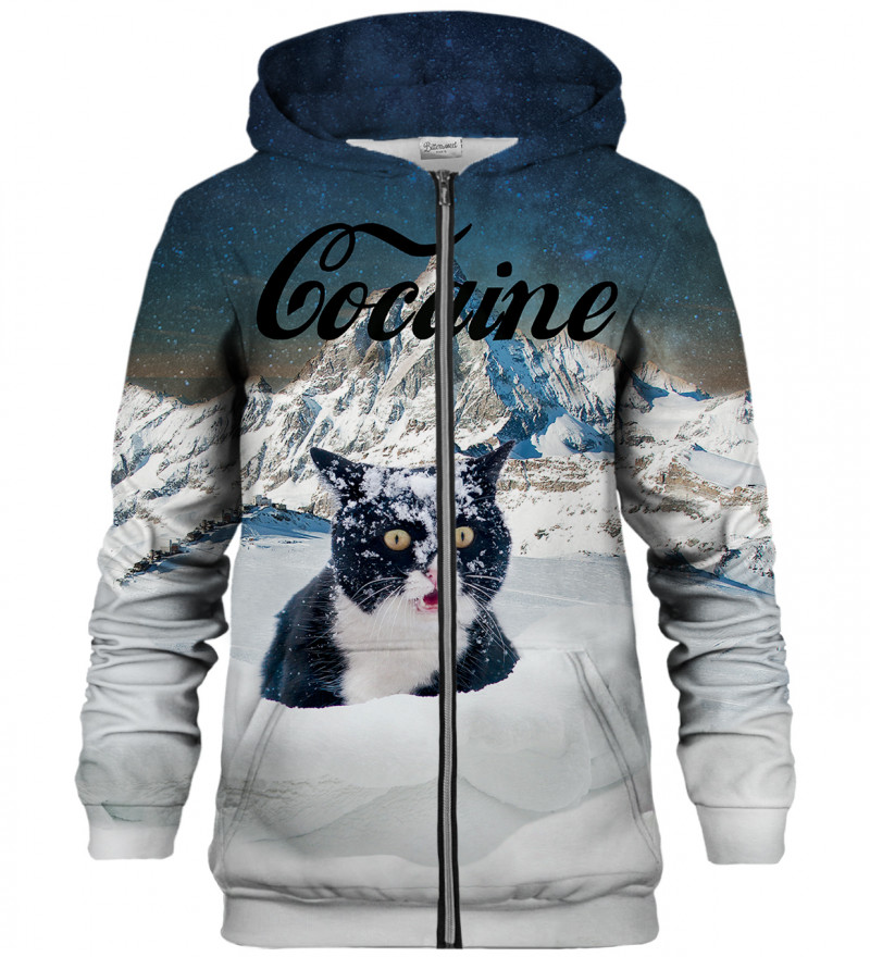 Cocaine Cat zip up hoodie